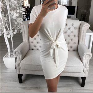 Pearl lush ivory tie dress